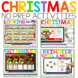 Digital Christmas Activities for Math & Reading & Writing | Distance Learning