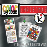 Digital Christmas Color by the Code Kindergarten