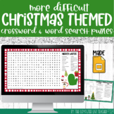 Digital Christmas Crossword and Word Search Puzzles in Goo
