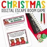 Digital Christmas Escape Room 3rd Grade Math Review for Go