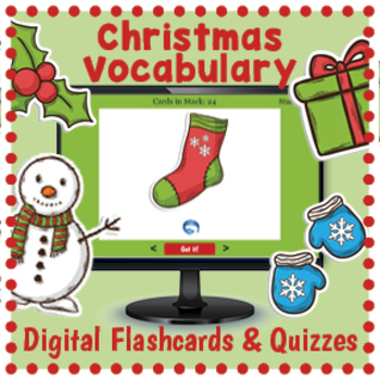 Digital Christmas Flashcards and Quizzes