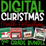 Digital Christmas Math Activities & Centers for 2nd Grade | Distance Learning