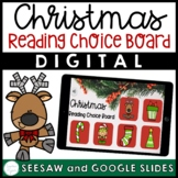Digital Christmas Reading Choice Board - Christmas Reading