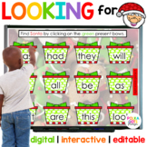 Digital Christmas Santa Letters and Sight Word Game | Dist