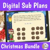 Emergency Christmas Sub Plans Digital Bundle for 1st Grade