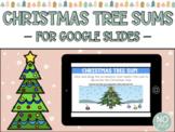 Digital Christmas Tree Sums FREEBIE for Google Slides