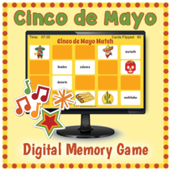 DIGITAL Cinco de Mayo Game - Cinco de Mayo Activity