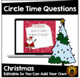 Digital Circle Time Questions | Christmas | Santa | Distan