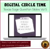 Digital Circle Time Questions Vol 5 | Texas Sage | Distanc