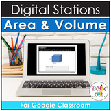Digital Circumference, Area, and Volume Activities for Google Classroom