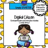 Digital Citizen Emergent Reader Book AND Interactive Activities