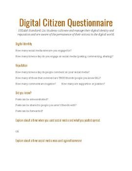 Digital Citizen Questionnaire