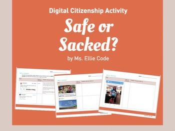 Digital Citizenship Activity - Safe or Sacked?