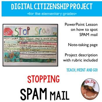 Digital Citizenship: Avoiding SPAM Lesson & Project