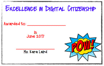 Digital Citizenship Awards