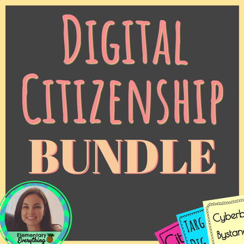 Digital Citizenship Posters | Word Wall | Essential Questions | Activity