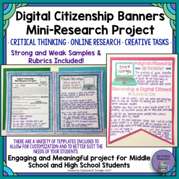 Digital Citizenship Banners and Mini-Research Project