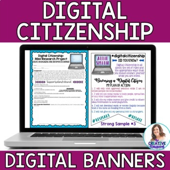 Digital Citizenship Banners and Mini-Research Project: DIGITAL Version