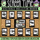 Digital Citizenship Bulletin Board & Contract: Screen Time Tips