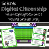 Digital Citizenship Bundle - Jeopardy Game and Word Wall