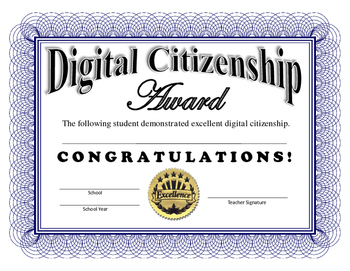 Digital Citizenship Certificate