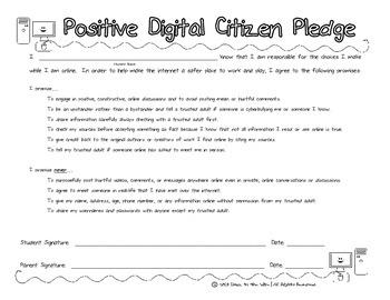 Digital Citizenship Cyber Safety Pledge