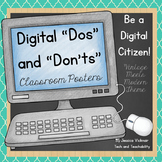 Digital Citizenship: Digital Dos and Don'ts! {Vintage Meets Modern Theme}