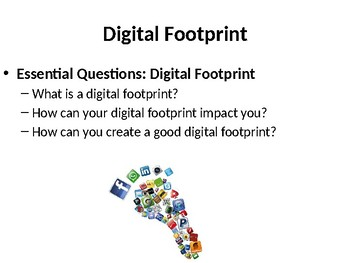 Digital Citizenship: Digital Footprint