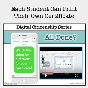 Digital Citizenship - Email and Text Messaging