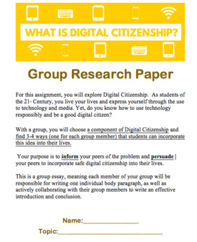Digital Citizenship Group Research Paper