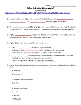 Digital Citizenship Guided Notes