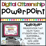 Digital Citizenship & Internet Safety PowerPoint- Editable