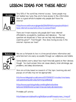 Digital Citizenship Lessons and ABC Posters