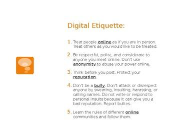 Digital Citizenship & Literacy PowerPoint