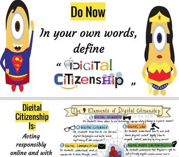 Digital Citizenship - Online Superheroes! - Whole iPad Les