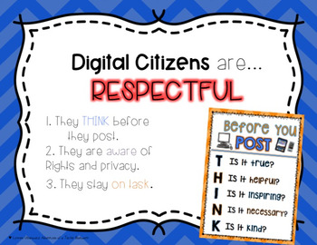 Digital Citizenship Posters- Bright