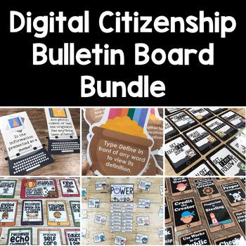 Digital Citizenship Posters & Bulletin Board Set BUNDLE 10 Months