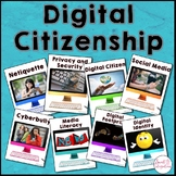 DIGITAL CITIZENSHIP POSTERS for Upper Grades, Google Slides™ Included