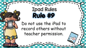 Digital Citizenship PowerPoint ipad and laptop rules PowerPoint