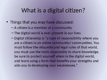 Digital Citizenship Presentation/Activity