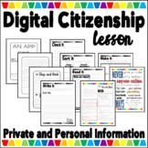 Digital Citizenship - Private Information