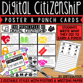 Digital Citizenship Posters and Punch Cards - Editable