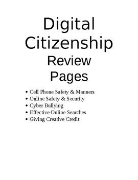 Digital Citizenship Question Bank