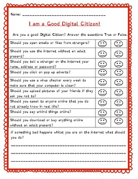 Digital Citizenship Questionnaire: Staying Safe Online