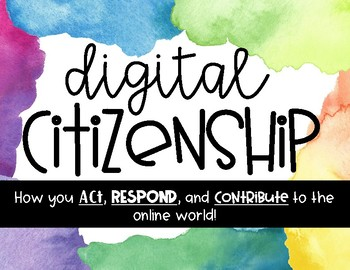 Digital Citizenship Rule Posters and Discussion Cards