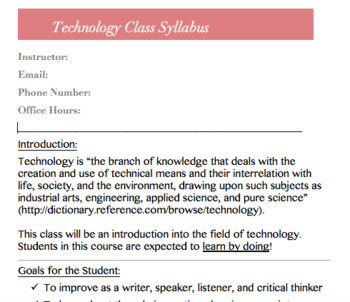 Digital Citizenship & Safety Worksheets (syllabus included)