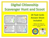 Digital Citizenship Scoot and Scavenger Hunt Activity - NEW!