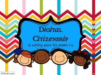 Digital Citizenship Sorting Activity