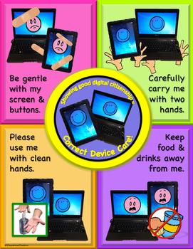 Digital Citizenship: Technology Care Poster Bundle