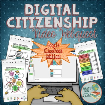 Digital Citizenship Video Webquest for Google and OneDrive Distance Learning